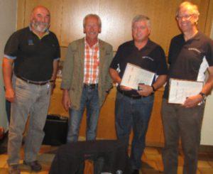 Hubert Gstach und Walter Gabriel wurden vom VSV geehrt