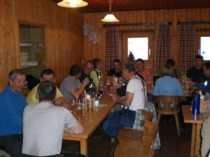 gemütlicher Abend auf der Amberger Hütte 2136 m