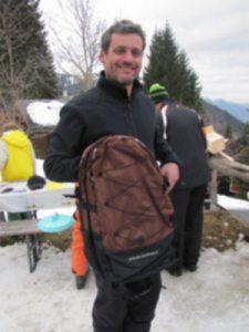 Rucksackgewinner Markus Reisch