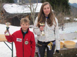 Schülermeister 2013 Gstach Celine und Florian Michelini