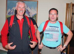 Rucksackgewinner Othmar und Stefan